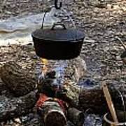 Campfire Cooking Poster by David Lee Thompson