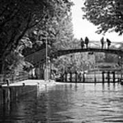 Canal Of St. Martin Bw Poster