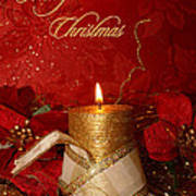 Candle Light Christmas Card Poster