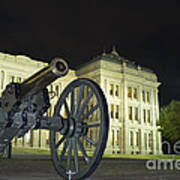Cannon In Front Of The Texas State Capitol In Austin Poster
