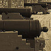 Cannons At Louisberg Fortress Poster