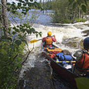 Canoeists Run A Rapid On The Winisk Poster