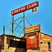 Canyon Club Route 66 Williams Arizona Poster