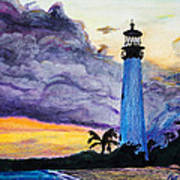 Cape Florida Lighthouse Poster