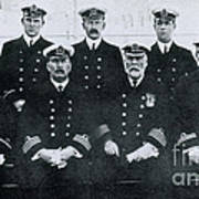 Captain And Officers Of The Titanic Poster