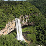 Caracol Waterfall Poster