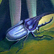 Card Of Nosey Bug Poster