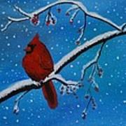 Cardinal Christmas Poster