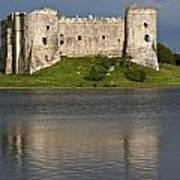 Carew Castle Reflections Poster