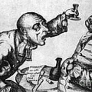 Caricature Of Two Alcoholics, 1773 Poster