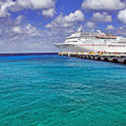 Carnival Elation Docked At Cozumel Poster