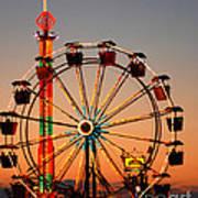 Carousel At Night Poster