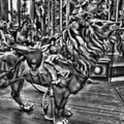 Carousel  Black And White Poster