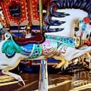 Carousel Horse With Leaves Poster
