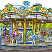 Carousel Ride In Pittsburgh Pennsylvania Poster