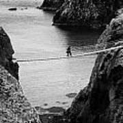 Carrick A Rede Rope Bridge County Antrim Ireland Poster