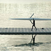 Carrying Single Scull Poster