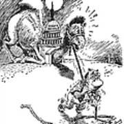 Cartoon: New Deal, 1937 Poster