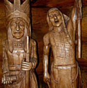 Carved American Indians Poster