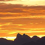 Cascade Mountains Sunrise 1 Poster