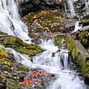 Cascades At Mingo Falls Poster