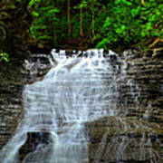 Cascading Falls Poster by Frozen in Time Fine Art Photography