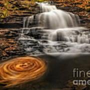 Cascading Swirls Poster