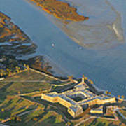 Castillo De San Marcos In St Augustine Florida - Aerial Photo Poster