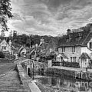 Castle Combe England Monochrome Poster
