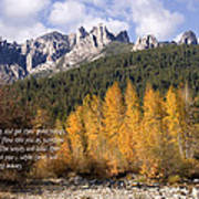 Castle Crags Autumn Poster