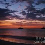 Catamarans  At Sunset Poster