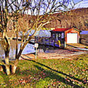 Catoctin Lake Boathouse Poster