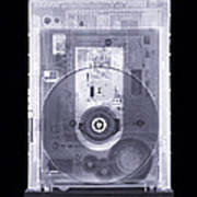 Cd Drive, Simulated X-ray Poster by Mark Sykes
