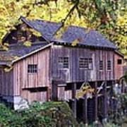 Cedar Creek Grist Mill In Autumn Poster
