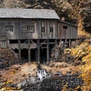 Cedar Creek Grist Mill Poster by Steve McKinzie