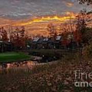 Cedar River Sunrise Poster