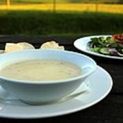 Celery Root Soup And Salad Poster