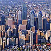 Center City Aerial Photograph Skyline Philadelphia Pennsylvania 19103 Poster