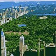 Central Park Color 6 Poster