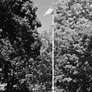 Central Park Flag In Black And White Poster