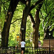 Central Park Jogging Poster