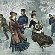 Central Park, Nyc, 1877 Poster