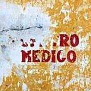 Centro Medico Sign Poster