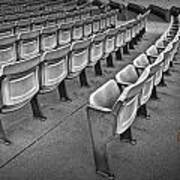 Chair Seating In An Arena With Oak Leaf Poster