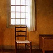Chair Under Window Poster