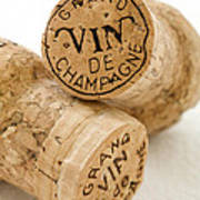 Champagne Corks Poster by Frank Tschakert