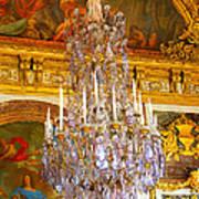 Chandelier At Versailles Poster