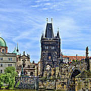 Charles Bridge And Church Dome Poster