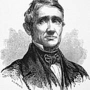 Charles Goodyear /n(1800-1860). American Inventor. Line Engraving, 19th Century Poster