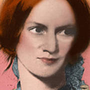 Charlotte Bronte, English Author Poster